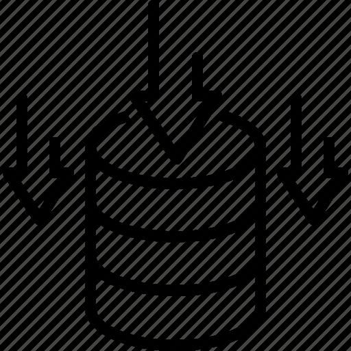 data storage, database, deposit, repository, stock, stockpile, storehouse icon