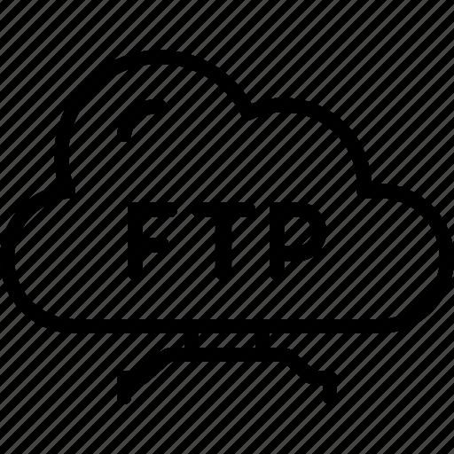 data, file, folder, ftp, protocol, server, userinterface icon