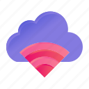 cloud, connection, signal, wifi icon