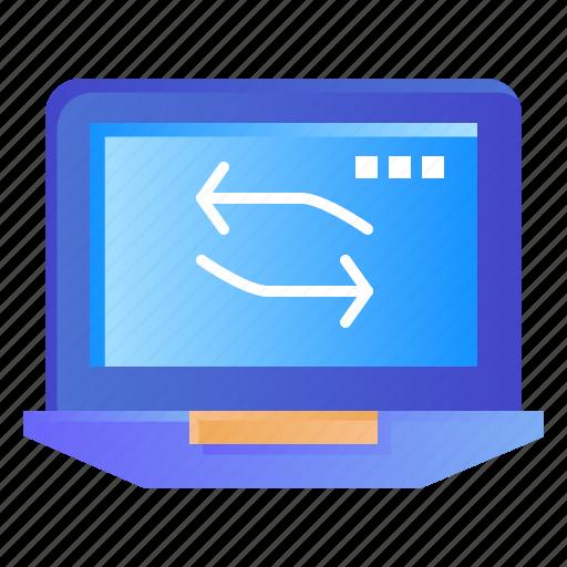 computer, hardware, laptop, network icon