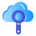 cloud, computing, find, search icon