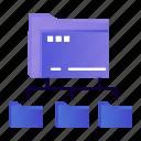 computing, folder, folders, network icon