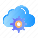 cloud, computing, gear, setting icon