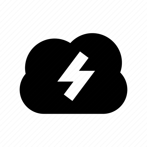 cloud, cloud thunder, cloudy weather, thunder, thunderstorm icon