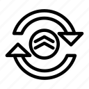 arrow, cloud, computing, data, network, refresh, reload icon
