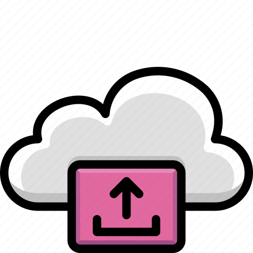 cloud, colour, functions, upload icon