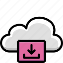 cloud, colour, download, functions icon