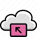 cloud, colour, functions, select icon