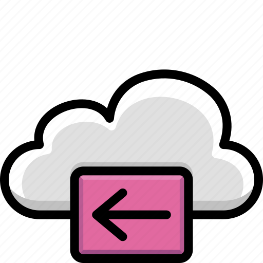 back, cloud, colour, functions icon