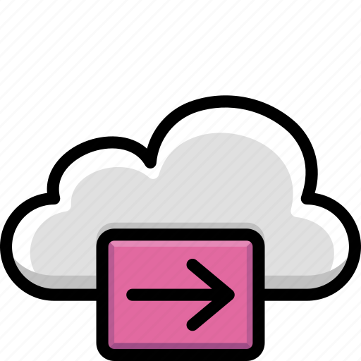 cloud, colour, forward, functions icon