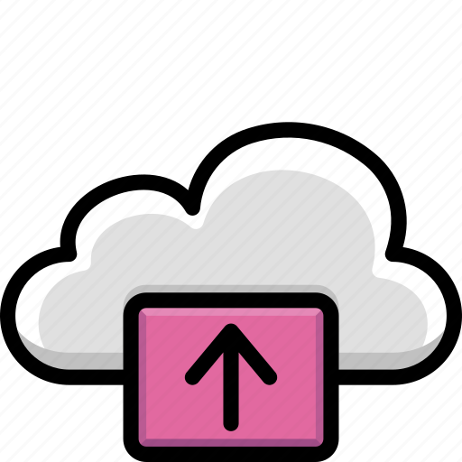 cloud, colour, functions, up icon