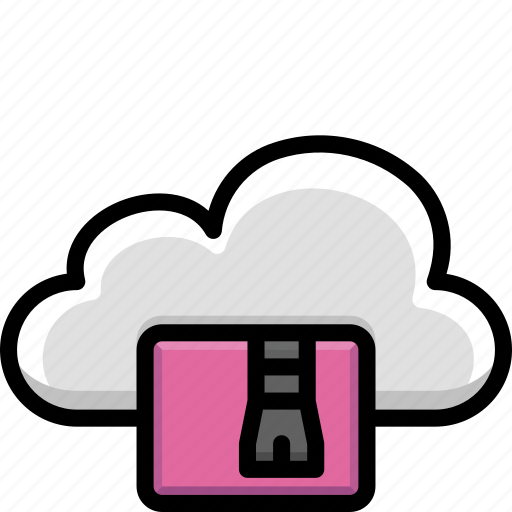 Cloud, colour, functions, zip icon - Download on Iconfinder