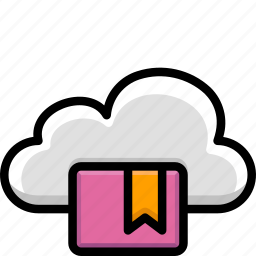 bookmark, cloud, colour, functions icon