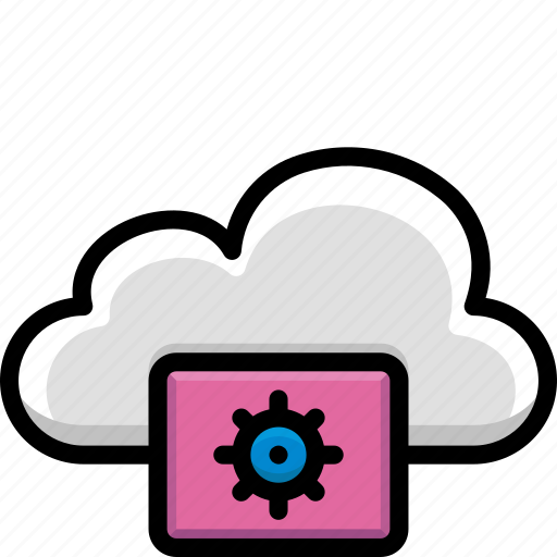cloud, colour, functions, settings icon