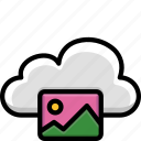 cloud, colour, functions, gallery, photos icon