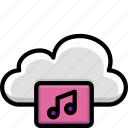 cloud, colour, functions, music, songs icon