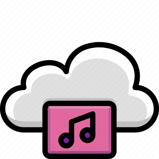 Cloud, colour, functions, music, songs icon - Download on Iconfinder