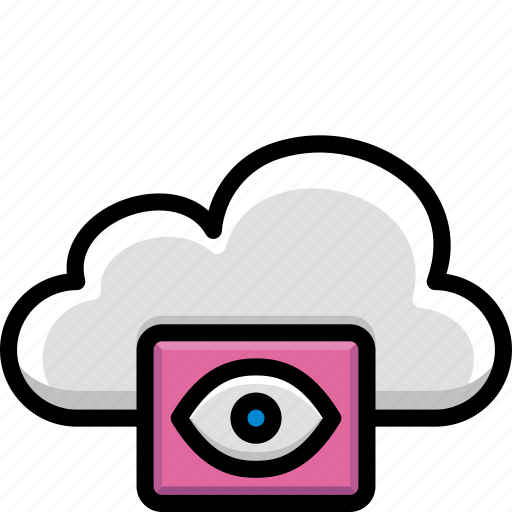 Cloud, colour, functions, see, view icon - Download on Iconfinder