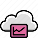cloud, colour, data, functions, graph icon