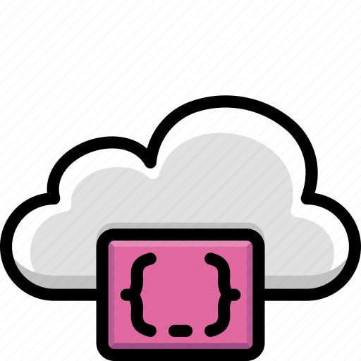 cloud, code, colour, css, functions icon