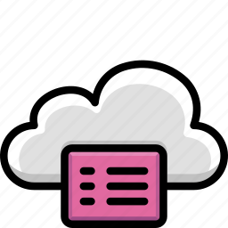 cloud, colour, functions, notes icon