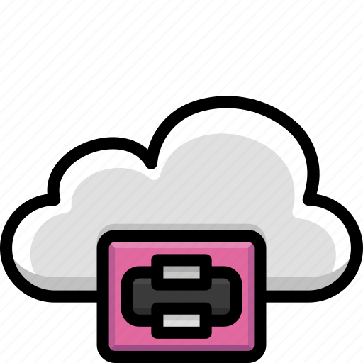 Cloud, colour, functions, plotter, print icon - Download on Iconfinder