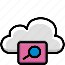 cloud, colour, functions, view icon