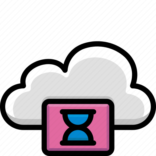 cloud, colour, functions, loading icon