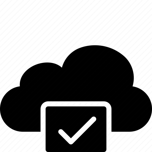 approved, cloud, functions icon