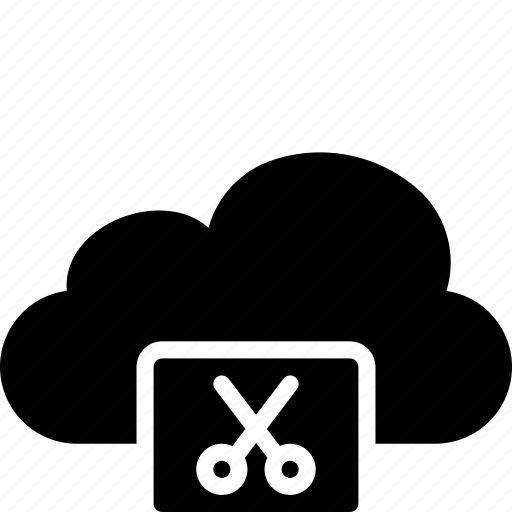 cloud, cut, functions icon
