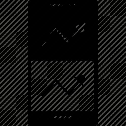 arrow, comparison, double icon