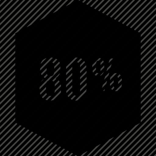 data, eighty, percent, point icon