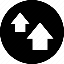 arrows, graphic, information icon