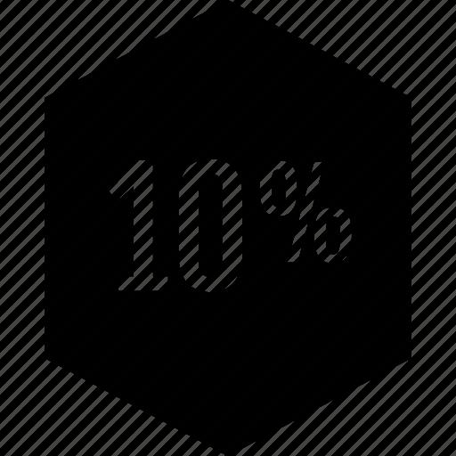 percent, percentage, rate, ten icon