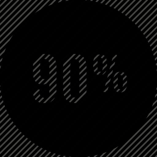 ninety, off, percent, save icon