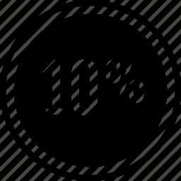 data, percent, ten icon