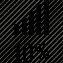bars, data, percent, ten icon