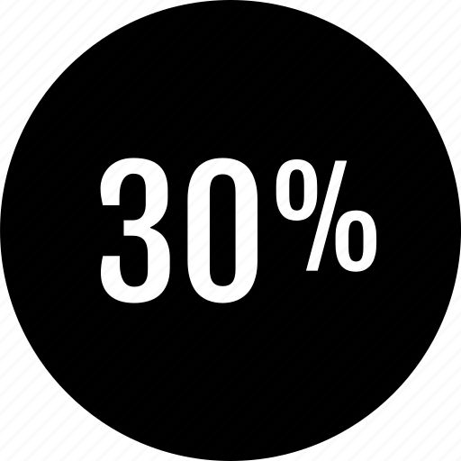 data, percent, rate, thirty icon