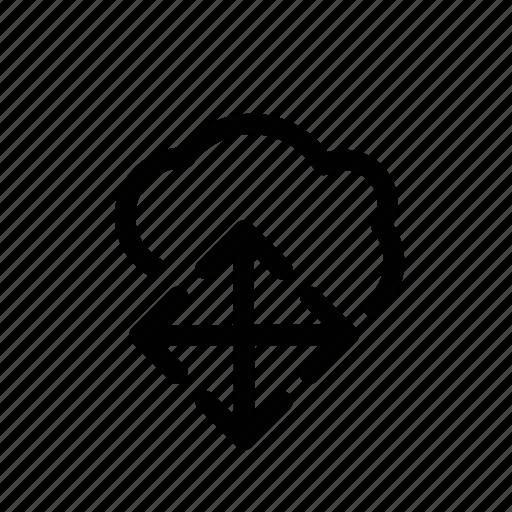 align, arrange, arrows, cloud icon