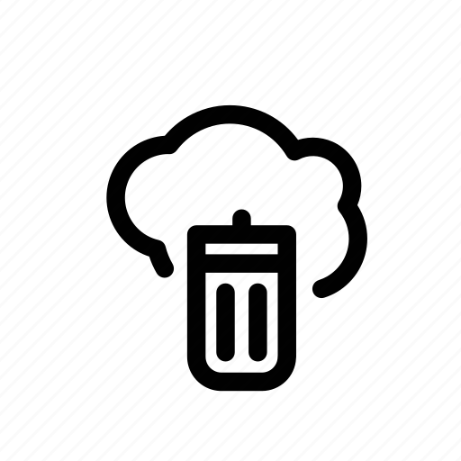 bin, cloud, erase, free, space icon