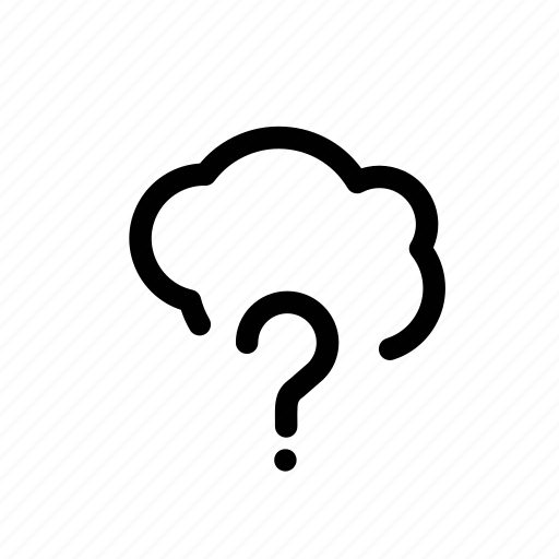 cloud, data, file, missing, question, search icon