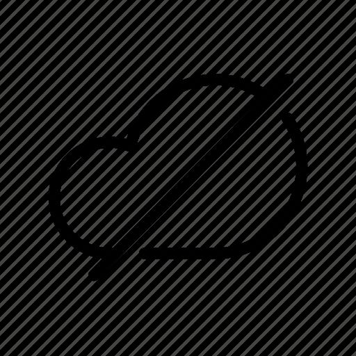 backup, cancel, cloud, computing, drive, ftp, storage icon