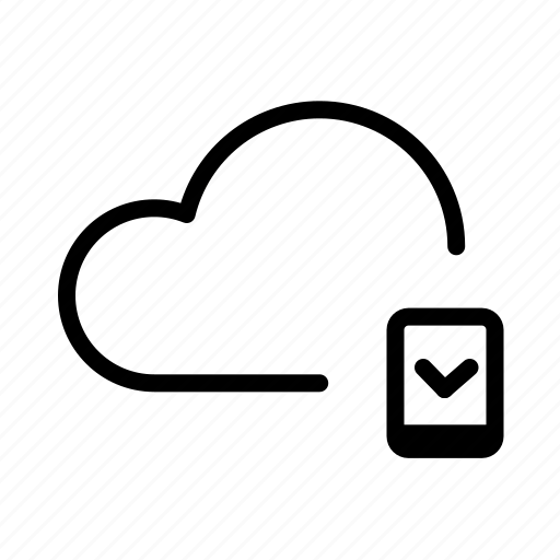 backup, cloud, device, drive, icloud, mobile, upload icon
