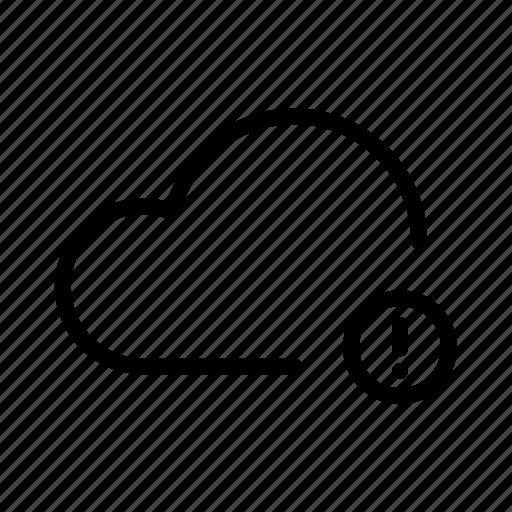 backup, cloud, computing, error, ftp, icloud, storage icon