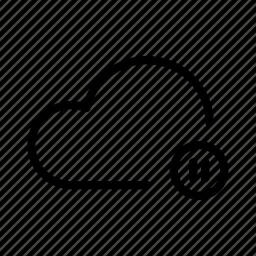 backup, cloud, computing, drive, icloud, play, storage icon