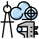 architecture, cloud, communication, internet, network icon