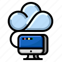 cloud, communication, computing, internet, network icon