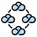 cloud, communication, community, internet, network icon