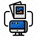 cloud, gallery, photonetwork, computer, communication icon