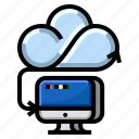 cloud, communication, computer, internet, network, server icon